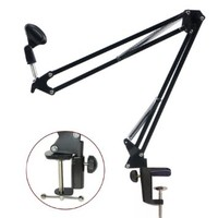 Etubby Professional Adjustable Desktop Microphone Suspension Boom Scissor Arm Stand Holder for Broadcast, Studio, TV Station, Program Record and More
