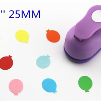 free ship ballon punches for eva paper punch craft perfurador cutter scrapbooking paper punch for kids furador diy puncher R338