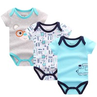 3PCS/LOT Baby Bodysuits Boy Girl Baby Clothes Summer Infant Short Sleeve Jumpsuit Body for Babies Newborns Cotton Baby Clothing