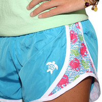 Simply Southern YOUTH Jogger Shorts - Crabby