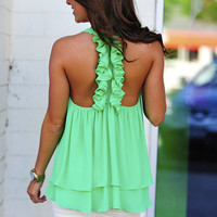Island Time Tank: Green Apple | Hope's