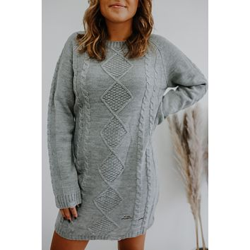 There For Me Dress - Heather Grey