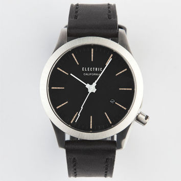 Electric Fw03 Leather Watch Black/Cream One Size For Men 24996114901