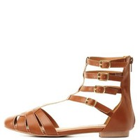 Qupid T-Strap Gladiator Sandals by Charlotte Russe