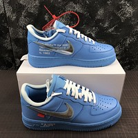 Morechoice Tuhz Off White X Air Force 1 Low 07 Mca Sneakers Casual Skaet Shoes Ci1173-400