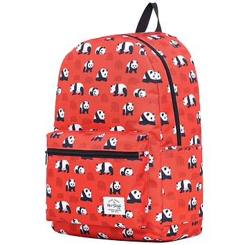 TRENDYMAX Galaxy Backpack for School Girls & Boys, Durable and Cute Bookbag with 7 Roomy Pockets D200o, Panda