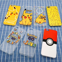 Pokemon Clear Silicone TPU Case Cover for Apple iPhone 7 5 5S SE 6 6S 7 Plus