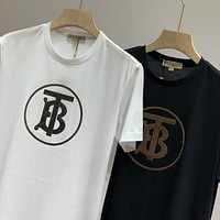 Burberry 2020 New TB Letter Print Round Neck Half Sleeve T-Shirt