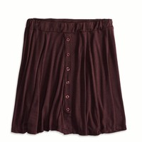 Hi-Rise Circle Skirt Made In Italy By AEO, Rose   American Eagle Outfitters