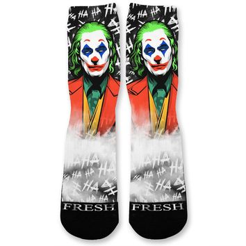 Ha Ha Ha Villain Custom Athletic Fresh Socks