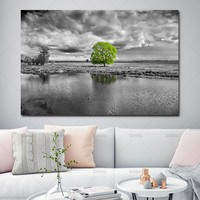 Canvas painting landscape Picture home decor  Wall art print flower canvas tree home decor Pictures decoration for Living Room