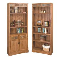 Sunny Designs Sedona Collection Two Piece Desk and Hutch In Rustic Oak
