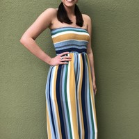 Malibu Jumpsuit- Gold Multi