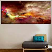 landscape photography, large art, large wall art, art photography print cloud, colorful, canvas wall art, large canvas no framed