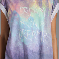 Wildfox Couture Dream On Jagged Edge Tee in Multi