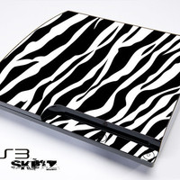 Zebra Print Skin For The Playstation 3 Original and Slim Series
