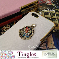Unique Hogwarts School Crest Harry Potter iPhone Case Custom Made For 5 5S 4 4S Red Black White Pink
