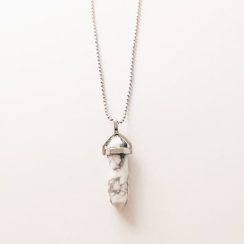 White Marble Cristal Necklace