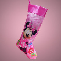Adorable Disney Christmas Stockings! Happy Holidays! X-Large Version-Minnie Mouse