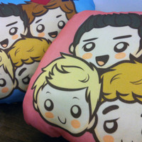 Exclusive One Direction Shaped Throw Pillow Cover. 1D Logo Pillow.  Love One Direction