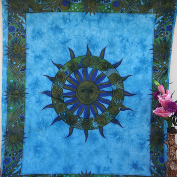 Sun and moon tapestry, Tapestry hippie tapestry mandala tapestry ...
