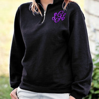 Loose Casual Thick Fleece Zip Sweater