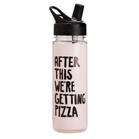 We're Getting Pizza Water Bottle