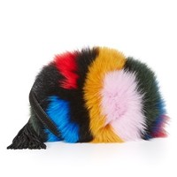 Cross Body Pouch with Fur