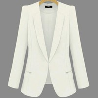 2018 New Plus Size Womens Business Suits Spring Autumn All-match women Blazers Jackets Short Slim long-sleeve Blazer Women Suit