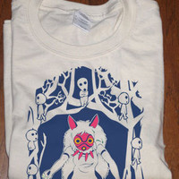 Princess Mononoke Masked San Guarding Forest Spirits T-shirt