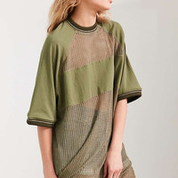 Silence + Noise Rook Mesh Oversized Tee | Urban Outfitters