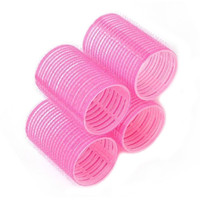 6pcs/1 pack Grip Cling Hair Styling Rollers Curler Hairdressing DIY  Tool  7 Sizes  Color in Random