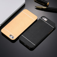 Luxury Hard Aluminum Metal Soft TPU Frame Case For Apple iphone 5 5S SE 6 6S 7 Plus Phone Accessories Hard Cover For iphone7 -0315