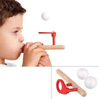 Baby Wooden Puzzle Toys Kids Blowing Ball Balance Training Blow Ball Rod Children Boys Girls Educational Toy