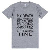 sarcastic death grey-JH-Unisex Athletic Grey T-Shirt