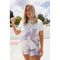 Eastern Night Tie Dye Lounge Top, Mint