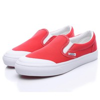 Trendsetter Vans Era Half Moon BILLY's Slip-On Canvas Flats Sneakers Sport Shoes