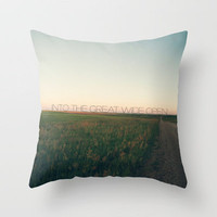Into the Great Wide Open Throw Pillow by CMcDonald | Society6