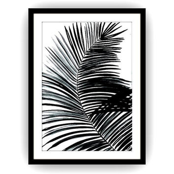 Palm leaf sillhoutte, Printable Wall decor,tropical decals, painting, watercolor illustration,minimalist, tree leafs, coconut split beach