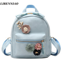 Hot Sale Flowers Backpack Fresh Style Backpacks For Teenage Girls School Bags 2017 New Floral Women Bag Fashion Small Sac A Dos