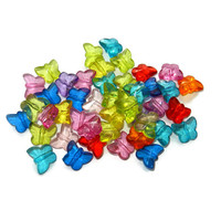 Mix of Acrylic Butterfly Beads