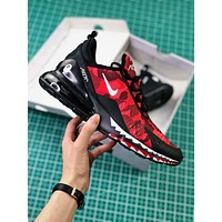 A Bathing Ape X Nike Air Max 270 Bape Camo Red Ah6799-016 Sport Running Shoes