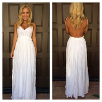Evening in Paris Maxi Dress - WHITE