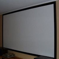 Carl's Blackout Cloth, DIY Projector Screen, Raw Material/Fabric, 66x110-inch, Matte White, 16:9/1.0