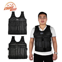 SUTEN 44bls Adjustable Weighted Vests With Shoulder Pads Strength Training Weight Jacket Exercise Boxing Sand Clothing