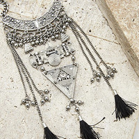 Longline Geo Statement Necklace