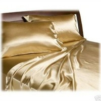 NEW SOFT SILK~Y SATIN BED SHEETS+PILLOWCASES SET Twin-Full-King-Queen-Cal King