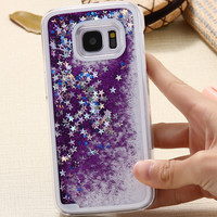 S7 Edge Capa Bling Liquid Sand Quicksand Star Phone Cases For Samsung Galaxy S7 G9300/S7 Edge G9350 Clear Ultra Back Phone Cover