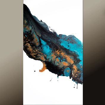 24x48 Abstract Contemporary Canvas Wall Art Painting by Destiny Womack -dWo- Falling Stars