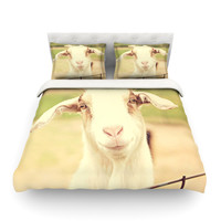 """Angie Turner """"Happy Goat"""" Smiling Animal Featherweight Duvet Cover"""